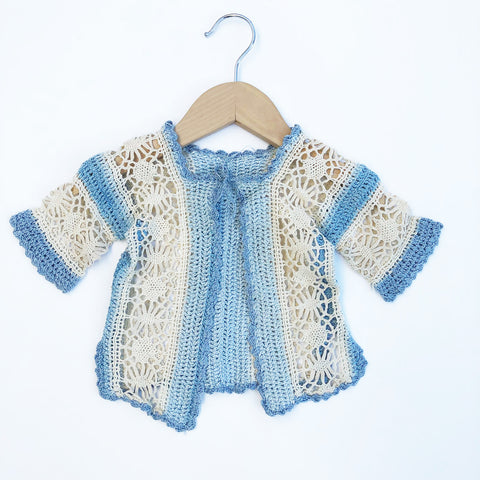 Vintage Baby Crochet Cardigan Size 3-6 months
