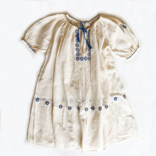Vintage Hungarian Embroidered Peasant Dress size 2