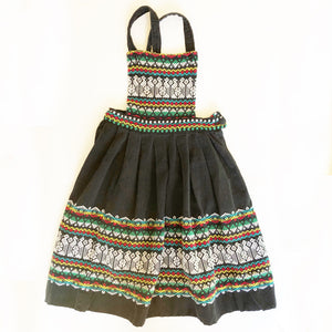 Guatemalan Embroidered Pinafore dress size 4-5