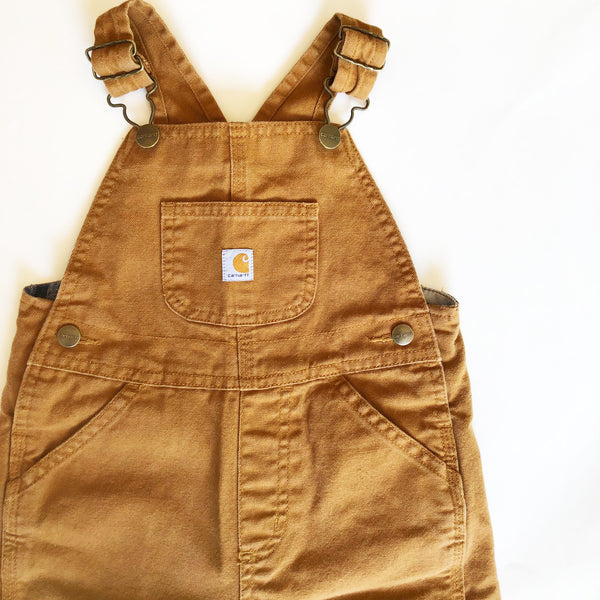 Carhartt Plaid Lined Overalls size 3