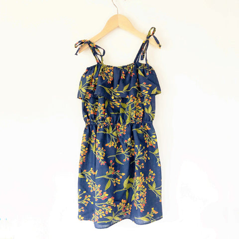 Chloe Re-purposed Dress in Blue Bud print size 4