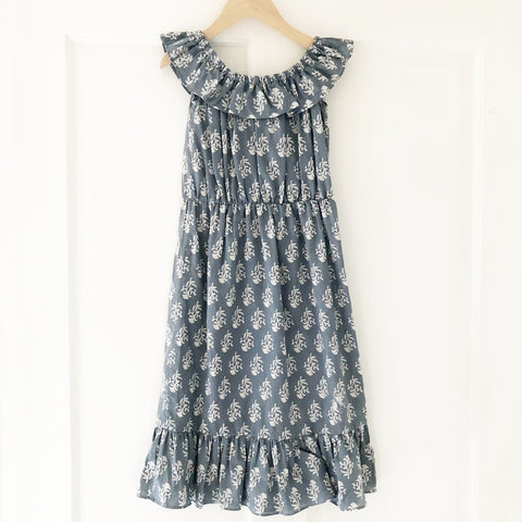 Ella Re-purposed Ruffle Top Dress