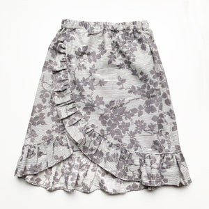 Sara Re-purposed Ruffle skirt In Grey Silhouette size 4