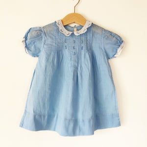 Baby Blue dress with Embroidery 6-12 months
