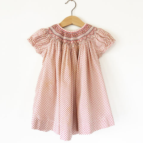 Perfect Little Smocked Dress with Embroidery size 6-18 months.