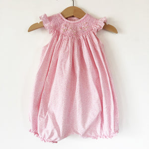 Smocked ditsy Romper size 6-12 months