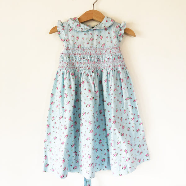 Laura Ashley Smocked Babycord Dress size 2T-3T