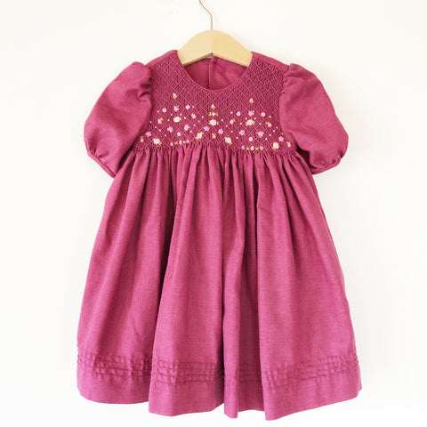 Smocked Dress with Puff Sleeves Size 12-18 months