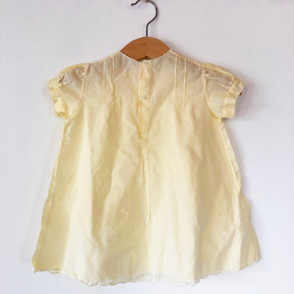 Little 1900's Yellow dress with Embroidery size 6-12 months