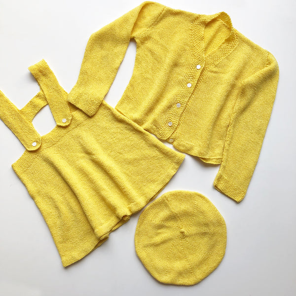 1930's One Of A kind vintage 3 peice knit set size 2T-3T