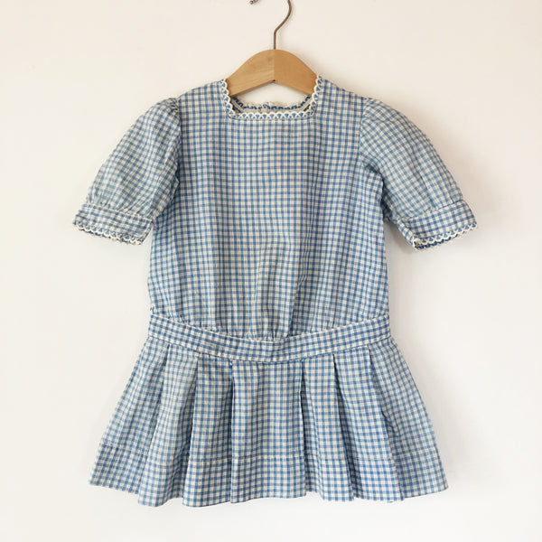 1930's Little Gingham Dress size 6-18 months