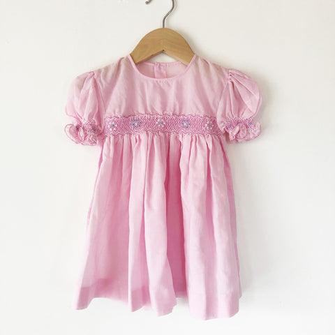 Little Smocked baby dress size 6-12 months