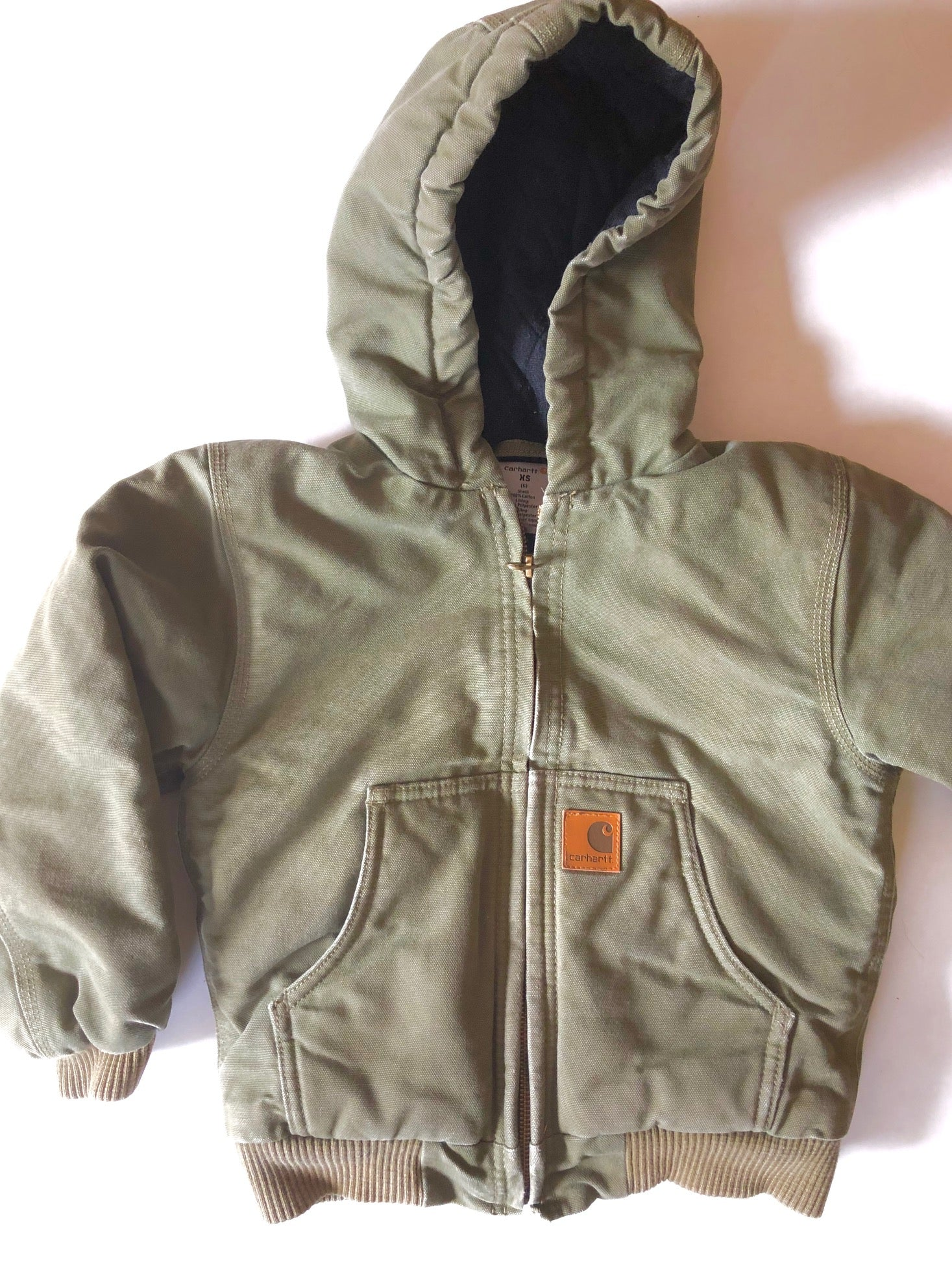 Carhartt Khaki Hooded Jacket size 6