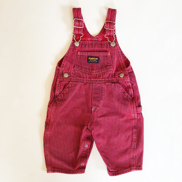 Osh Kosh Striped Red and Blue Overalls size 6-9 months