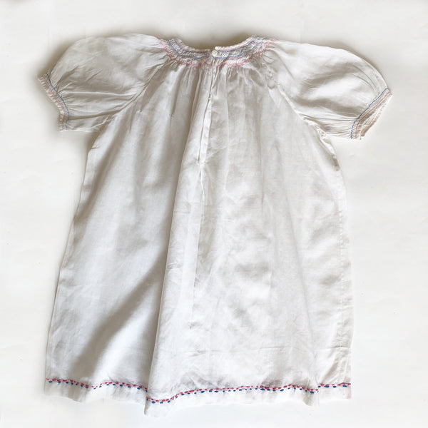 Smocked Baby Dress size 9-12 months.