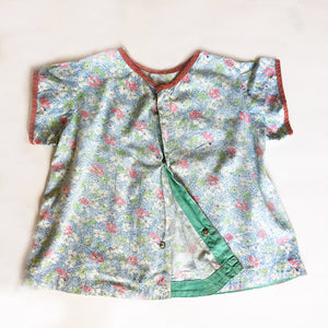 1940's Print Over Shirt size 9-12 months