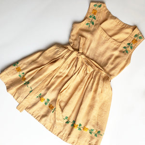 1930's Embroidered dress size 3-4