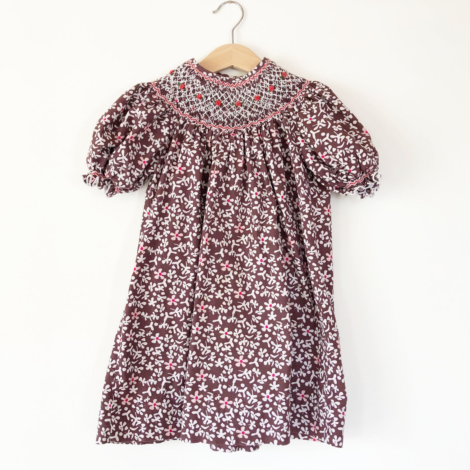 Little Smocked Floral dress size 2-3