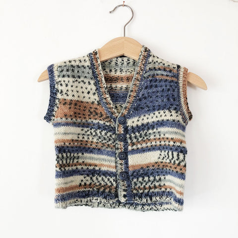 Little hand knit vest size 12-18 months