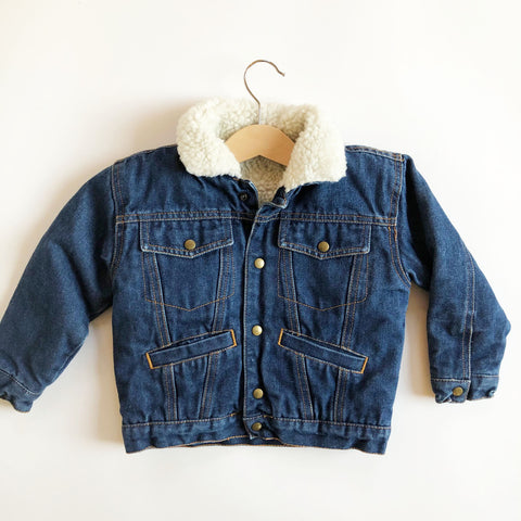 Little Vintage Denim Jacket with Fleece Lining size 3-4
