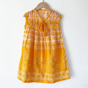 India Gauze Dress in Marigold size 3