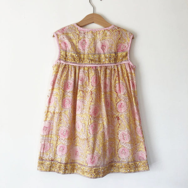 India Gauze Dress in Blush Vine size 4