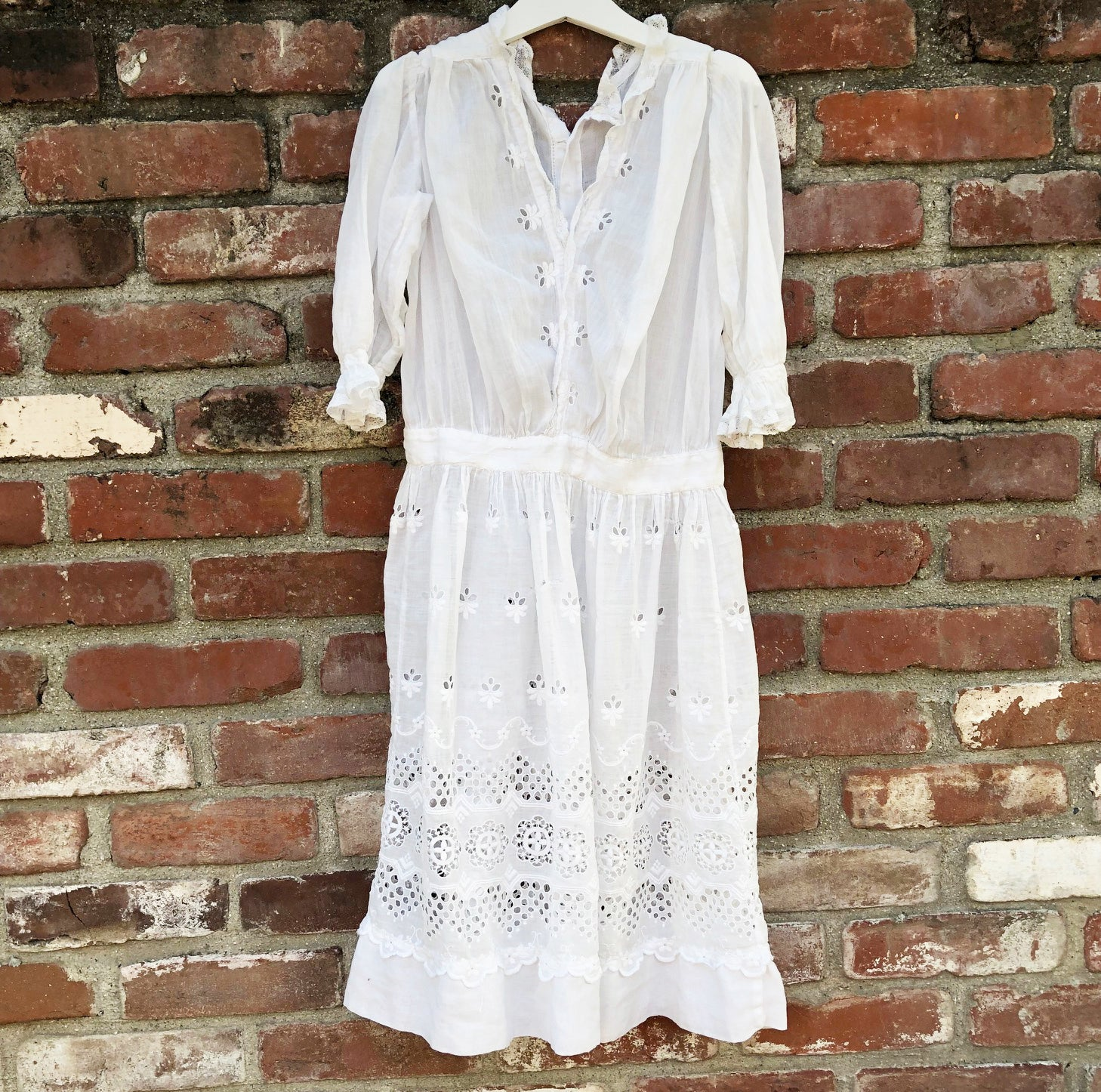 Victorian whitework dress size 7-8