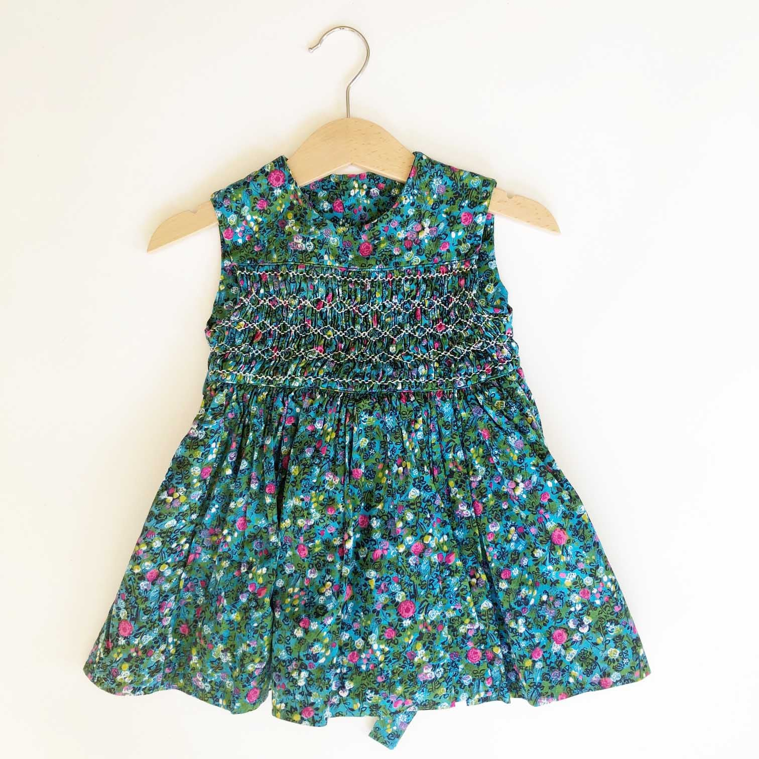 Little Ditsy Smocked dress size 12-24 months