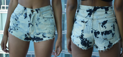 Acid Wash Shorts (Small)