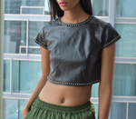 Leather Crop Top (S/M)