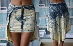 Acid Wash High-Low Skirt (Medium)
