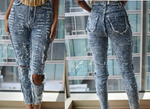 High Waist Distress Jeans (Medium)