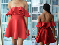 Red Sleeveless Dress (Medium)