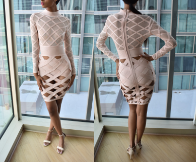 Nude 2-Piece Dress (Medium)