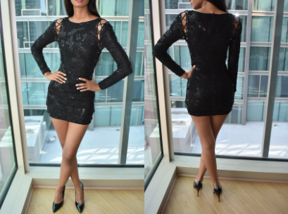 Black Sparkly Dress (S/M)