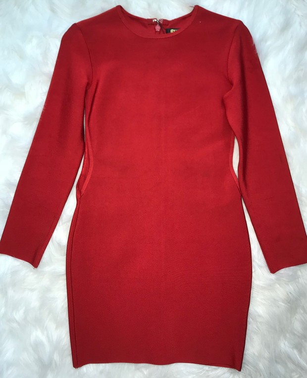 Red Long Sleeve Dress (S)