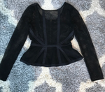 Black Peplum Top (S)