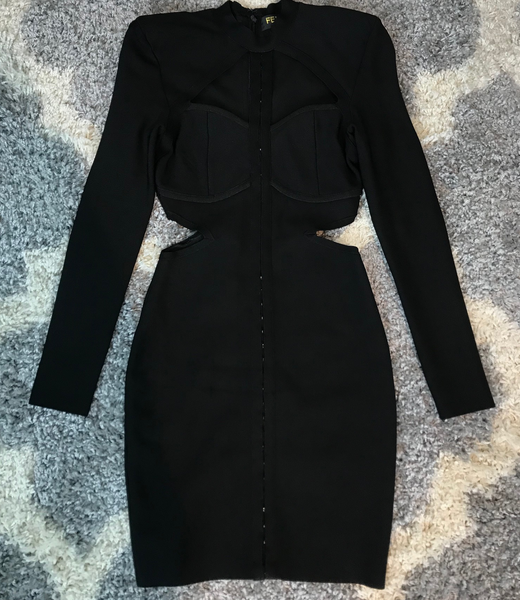 Black Cut Out Dress (S)