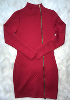 Red Zip Up Dress (S)