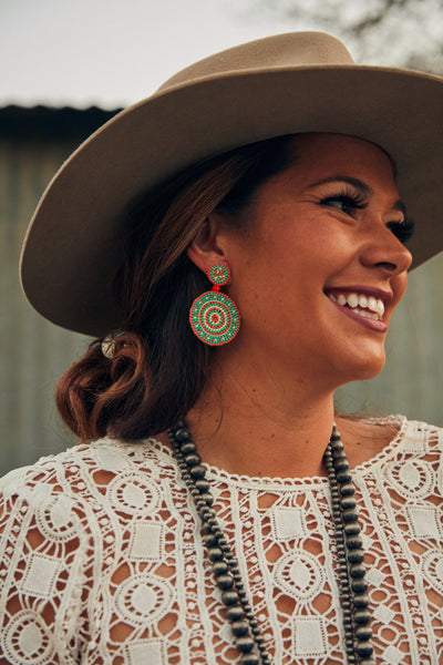 Field of Dreams: Beaded Earrings