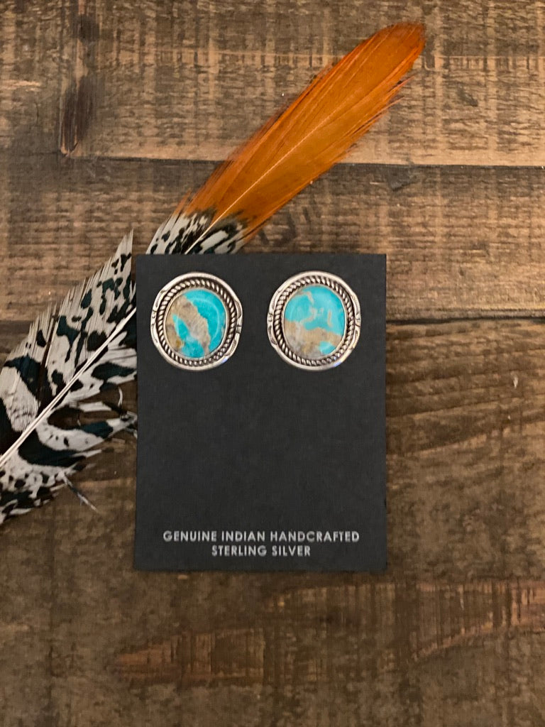 The Emma Studs || Turquoise