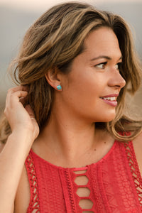 The Em Studs || Turquoise
