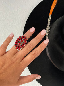 The Dallas Coral Cluster Ring || Size 6.25