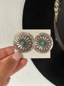The Waylon Concho Earrings || Turquoise