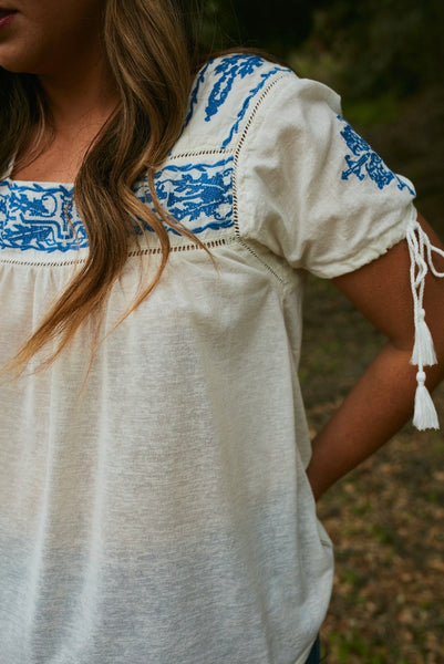 Kimes Ranch Willow Peasant Top