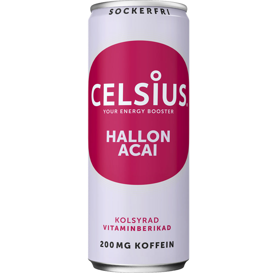 Celsius Hallon & Acai 355ml
