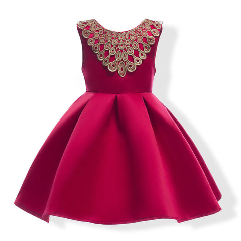Girls Formal Navy & Wine red Dress