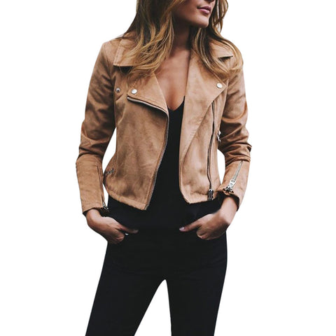 Retro Rivet Zipper Up Jacket