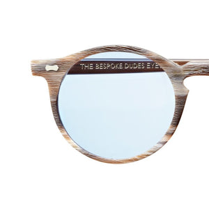 The Bespoke Dudes Eyewear Canvas Brown Brushed // Blue