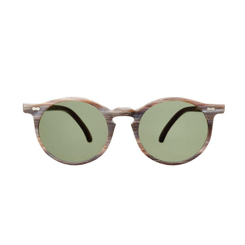 The Bespoke Dudes Eyewear Canvas Brown Brushed / Bottle Green